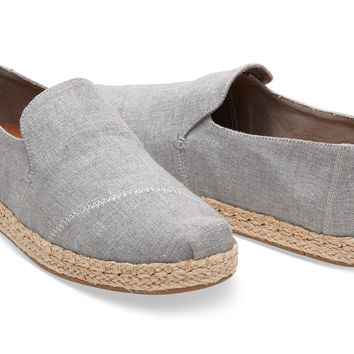 TOMS Deconstructed Alpargatas Drizzle Grey Shoes