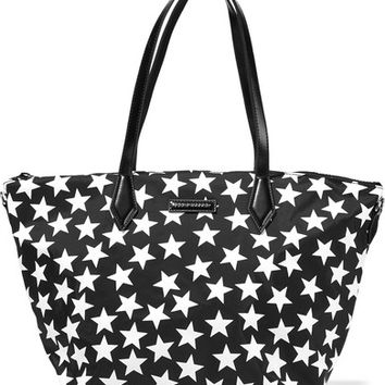 Eddie Harrop - Goer leather-trimmed printed shell tote