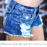 Womens Shorts 2016 Summer Denim Shorts Women Short Jeans  Feminino Hole Woman Jeans Summer Sexy cotton women ladies shorts