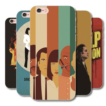 Pulp Fiction movie poster Phone case For iphone 4G 4S 5G 5S SE 5C 6 6S 7 8 Plus 7Plus protective covers