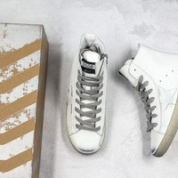 Golden Goose GGDB Francy Zip Sneakers With White Leather Star