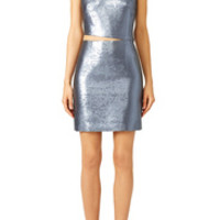 KAUFMANFRANCO Slate Liquid Cocktail Dress