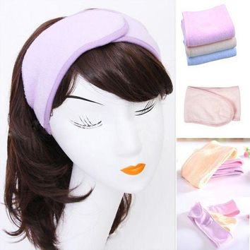 PEAPGC3 2017 New Pink Spa Bath Shower Make Up Wash Face Cosmetic Headband Hair Band Accessories Sale