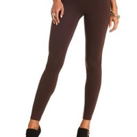 Ankle Length Stretch Cotton Leggings by Charlotte Russe