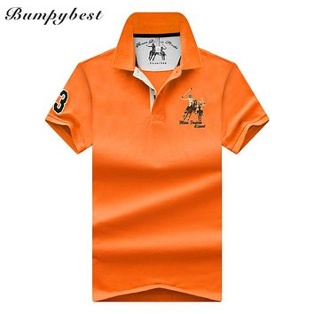 High Quality Tops&Tees Men's Polo shirts Business men Polo Shirts embroidery Turn-down collar men polo shirt
