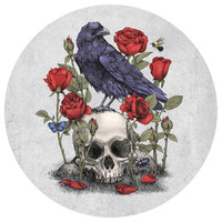 Terry Fan Momento Mori Circle Print