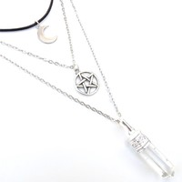 Clear Quartz Witchy Layered Choker Necklace