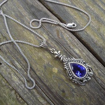$89.00 Medieval necklace in sterling silver by Billyrebs on Etsy
