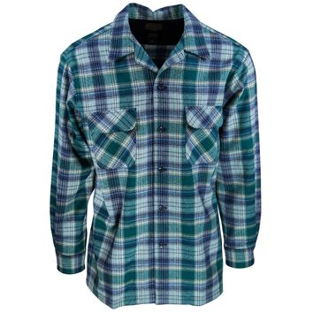 Board Shirt Green Teal plaid
