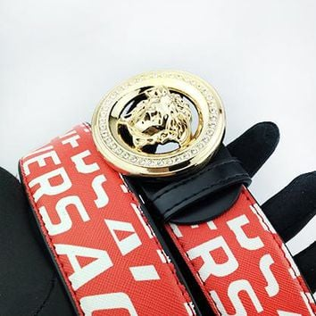 Versace printed figure buckle belt hot seller for casual belts for men and women #3