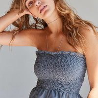 Truly Madly Deeply Loren Shirred Strapless Top | Urban Outfitters