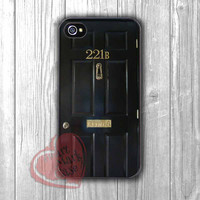 Sherlock holmes black wooden door -LsT for iPhone 4/4S/5/5S/5C/6/ 6+,samsung S3/S4/S5,samsung note 3/4