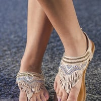 NOT RATED Zion Blush Fringe Sandals