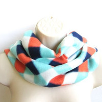 Cowl collar scarf- Unisex Neck Warmers -Fleece scarf-Unisex neck warmer-Men's scarf-Unisex