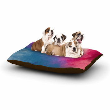 "Viviana Gonzalez ""ABSTRACT 01"" Pink Blue Dog Bed"