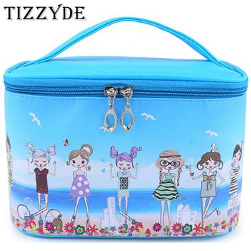Character Girl High Capacity Cosmetic Bag High Quality Women Waterproof Travel Toiletry Bag Necessaire Make up Bags SZL85