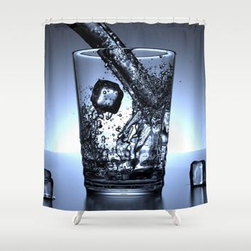 Glass of Water Shower Curtain by Mixed Imagery