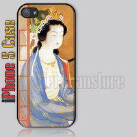 Retro Japanese Art Sexy Girl Kimono Dress iPhone 5 Case Cover