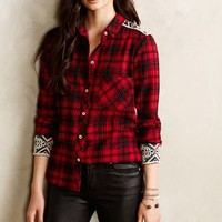 Patched Plaid Buttondown by Holding Horses Red Motif
