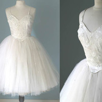 Vintage Ballet Costume Tutu 1950s Prom Dress Princess