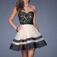 2014 La Femme Lace Bodice Homecoming Dress 19928