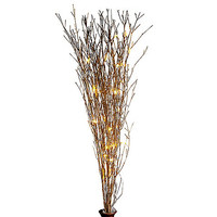 39-Inch Battery Operated Gold Glitter Bamboo Branches