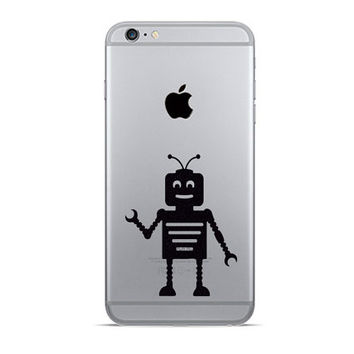 Cute Robot  iPhone 6 Decals - Two Velvet Fabric iPhone 6 Plus Stickers - Lego Galaxy s5 - Vinyl Decal - Lego Man Wall Decor