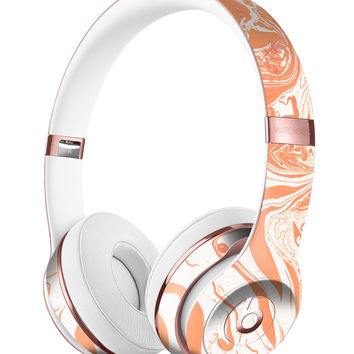 Marbleized Swirling Orange Full-Body Skin Kit for the Beats by Dre Solo 3 Wireless Headphones