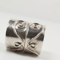 Sterling Silver Ring Set Couples Sterling Silver Promise Rings