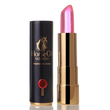 Cosmetic Natural Horse Oil Color Change Hydrated Jelly Lip Balm LipStick