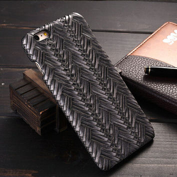 Gray Weave iPhone 6 6s Plus Case Cover Gift 20