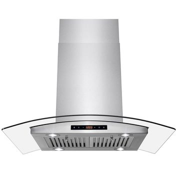 AKDY 36 in. Island Mount Kitchen Range Hood with Dual Side Touch Control-HD-RH0306 - The Home Depot