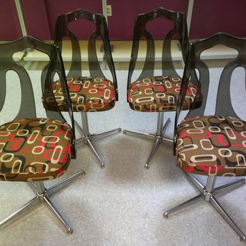 Mid Century Lucire Swivel Chairs - New Upholstery!