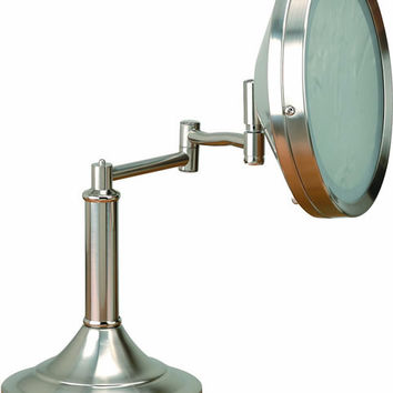 """0-010051>15x15"""" Vogue Mirror Table Lamp Polished Steel"""