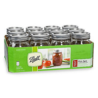 Ball® Regular Mouth Pint Preserving Jars with Lids (Set of 12)
