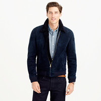 J.Crew Mens Shearling Bomber Jacket