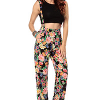 Summers Flowers Suspender Palazzo Pants