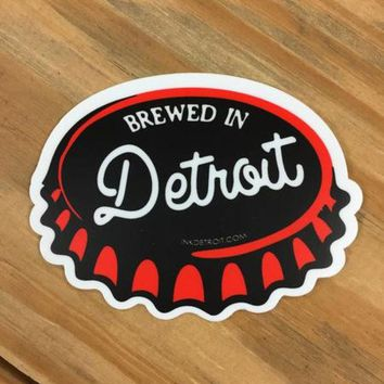 DCCKG8Q Ink Detroit Brewed In Detroit Vinyl Die Cut Bumper Sticker