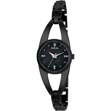 Invicta Women's 23315 Gabrielle Union Quartz 3 Hand Black Dial Watch