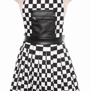 70's British SKA Revival Short Bib & Braces Skirt