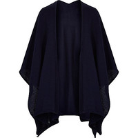 River Island MensNavy knitted cape