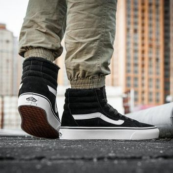 Vans Sk8-Hi F179 High Top Leather With Fur Warm Casual Sneakers Sport Shoes