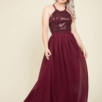 Big-Time Splendor Maxi Dress in Garnet | Mod Retro Vintage Dresses | ModCloth.com