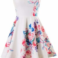 Floral Strapless Dress
