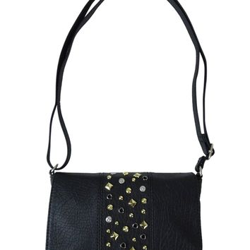 American Rag Grommet Studded Faux Leather Crossbody