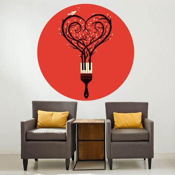 Enkel Dika's Paint Your Love Song Circle Decal
