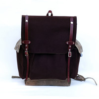 The Wayfarer Backpack in Brown Wool