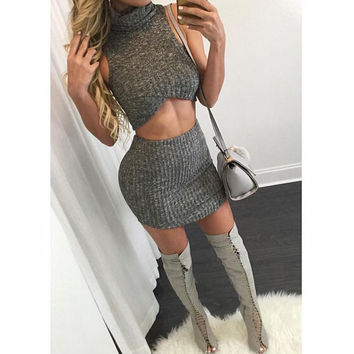 FASHION CASUAL KNITTED TWO-PIECE SUITS
