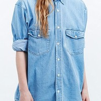 Urban Renewal Vintage Originals Denim Chino Shirt - Urban Outfitters