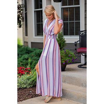 Change the World Maxi Dress: Multi